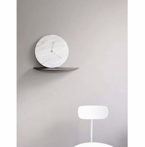 Bilde av Marble Wall Clock White -